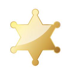 glossy golden sheriff star vector image