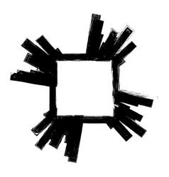 Grunge banner frame vector