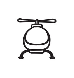 Helicopter sketch icon vector
