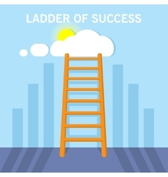 Ladder to clouds Flat design concept vector image