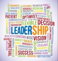 Leadership word vector