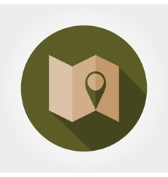 Map Map mark Icon vector image