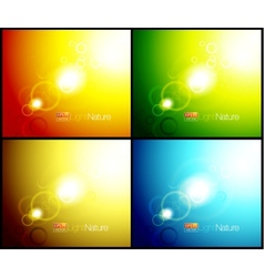 Nature lens flares backgrounds vector image