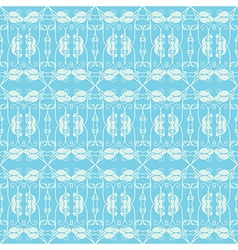 Neutral floral ornament cool blue vector image