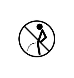 no peeing line icon pee vector image