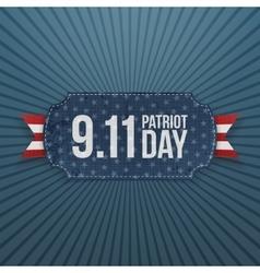 Patriot day 9-11 realistic badge vector