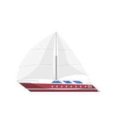 Sail frigate side view isolated icon vector