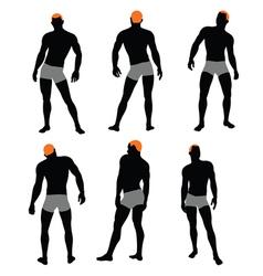 Set of men silhouette vector