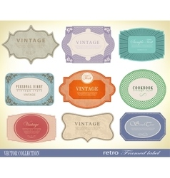 Set retro Labels vector image vector image