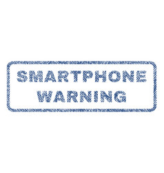 Smartphone warning textile stamp vector