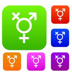 Transgender sign set collection vector
