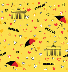 travel berlin city seamless pattern german vector image