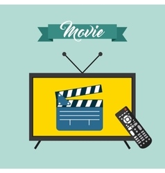 watch tv movie design vector image