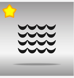 wave black icon button logo symbol concept vector image vector image