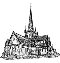Wooden chapel vector