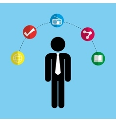 Social media and networking business vector