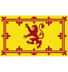 Royal standard of scotland vector
