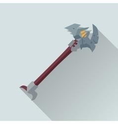 Cartoon beardy axey game sword vector
