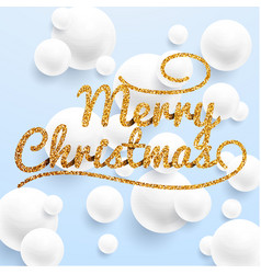 Christmas greeting card realistic volumetric vector