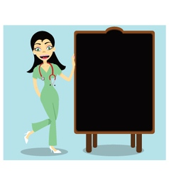 Nurse and Blackboard vector image