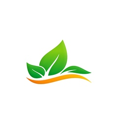Green leaf eco environment logo vector