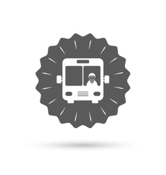 Bus sign icon public transport symbol vector