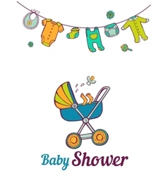 Baby shower announcement card vector