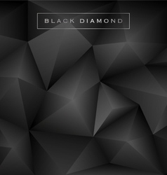 Abstract black diamond polygon background vector image