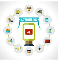 Advertising billboard concept vector