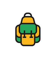 backpack icon on white background vector image vector image