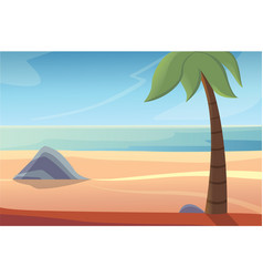 Beautiful beach lanscape vector