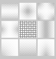 Black and white octagon pattern background set vector