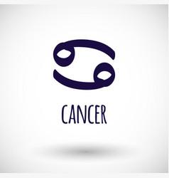 Cancer zodiac sign icon vector
