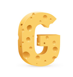 Cheese font a vector