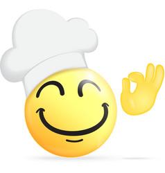 Chef emoticon vector