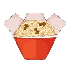 Chinese noodles box icon cartoon style vector