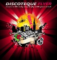 city grunge style disco background vector image