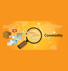 commodity trading market investment concept in vector image vector image