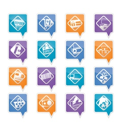 e-commerce and web site icons vector image vector image