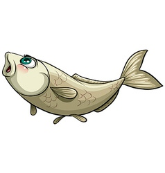 Fish caught by a hook vector
