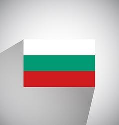 Flat flag of bulgaria vector