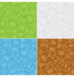 floral seamless patterns - set vector image