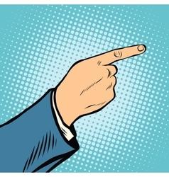 gesture Index finger direction vector image vector image