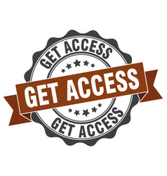 Get access stamp sign seal vector