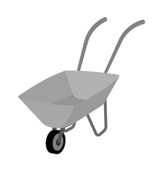 green cart with wheel and handles the means of vector image vector image