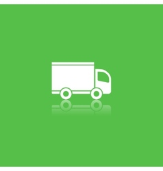 Green delivery icon vector