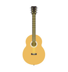 guitar icon stringed musical instrument classical vector image vector image