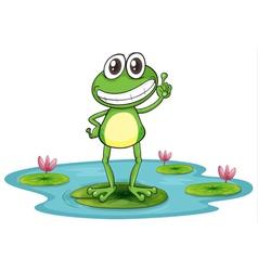 Happy Cartoon Frog vector image vector image