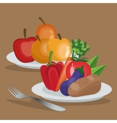 Healthy and organic food design vector image