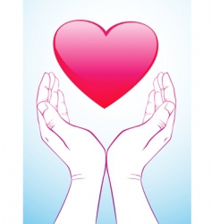 holding heart vector image vector image